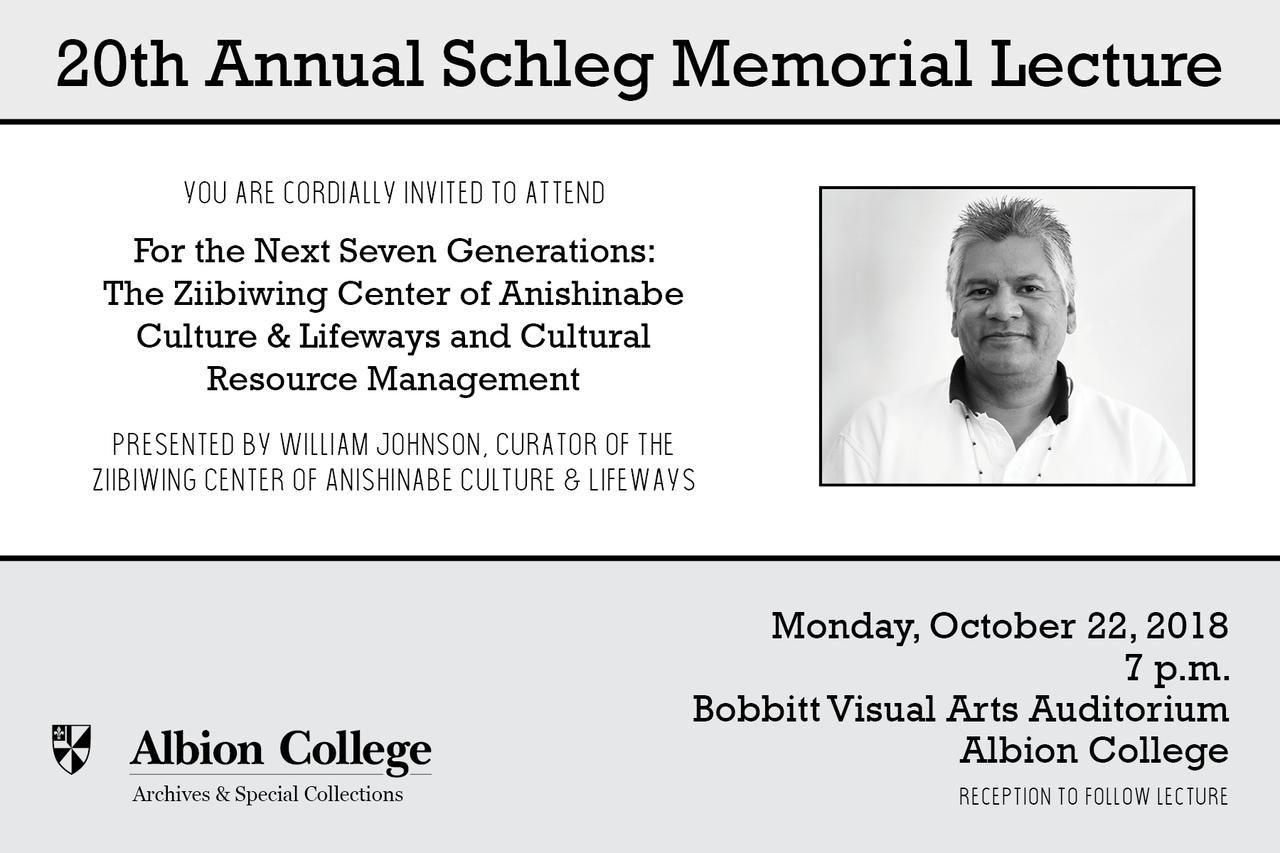 20th Annual Schleg Memorial Lecture Invitation (back)