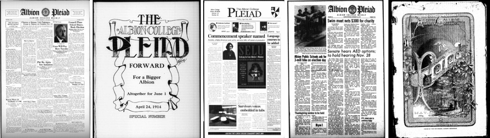 Albion College Pleiad–Digital Collection